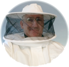 Zach in bee suit.